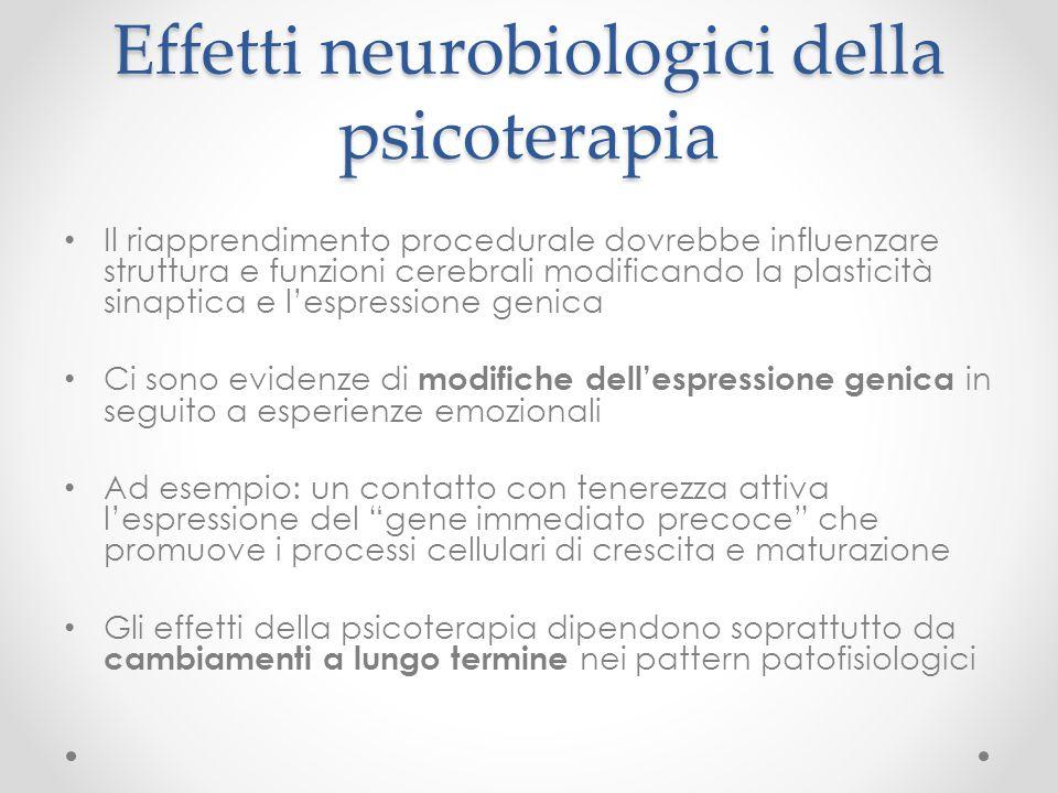 Effetti neurobiologici della psicoterapia