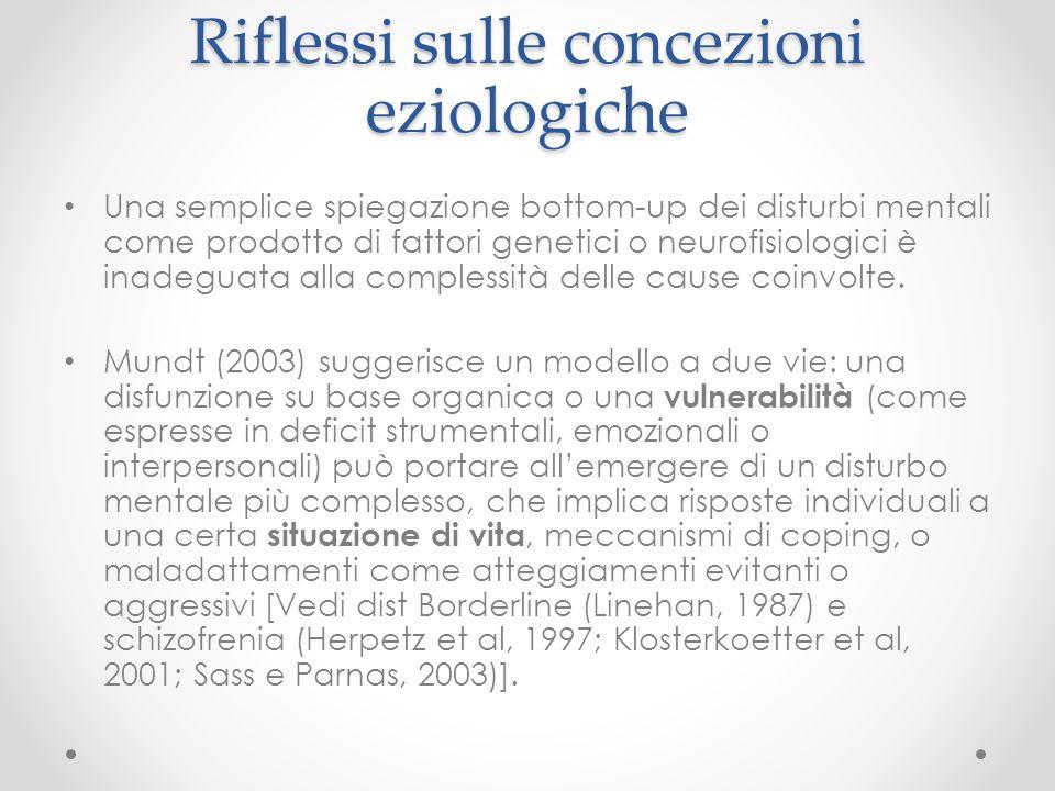 Riflessi sulle concezioni eziologiche