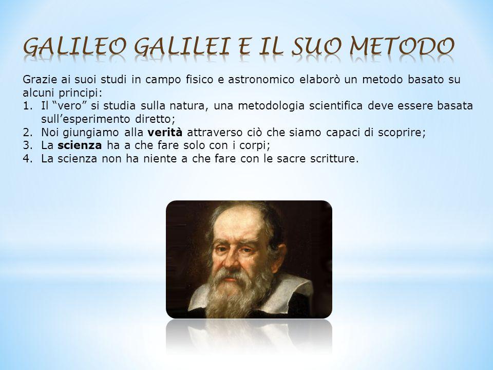 Galileo galilei e il suo metodo
