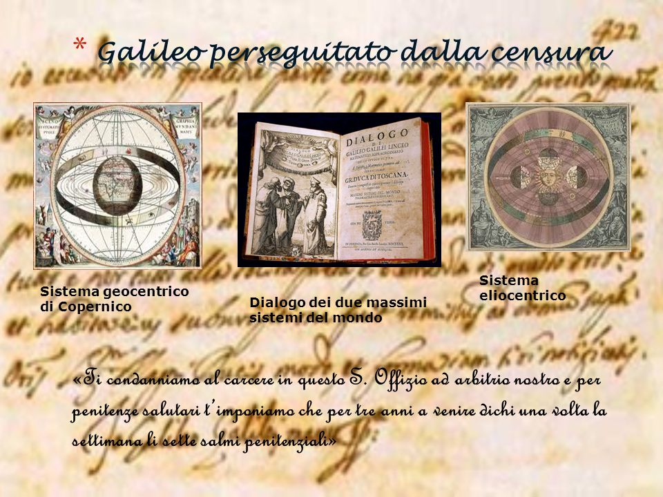 Galileo perseguitato dalla censura