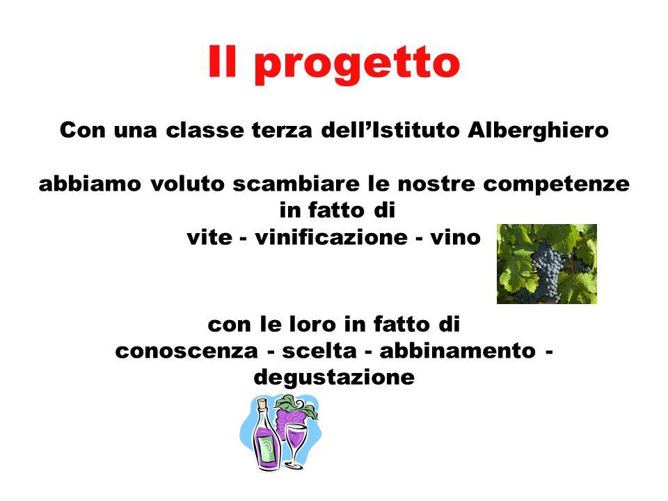 Il progetto Con una classe terza dell'Istituto Alberghiero