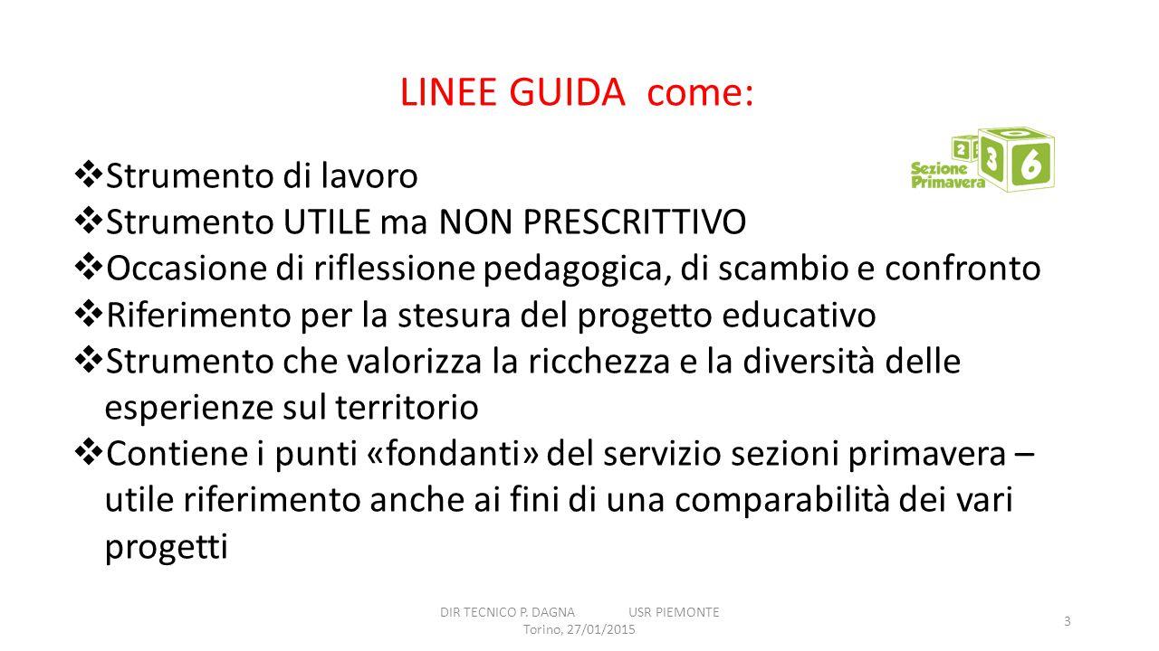 DIR TECNICO P. DAGNA USR PIEMONTE Torino, 27/01/2015
