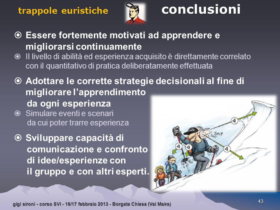trappole euristiche conclusioni