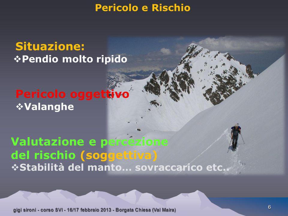 Valutazione e percezione del rischio (soggettiva)