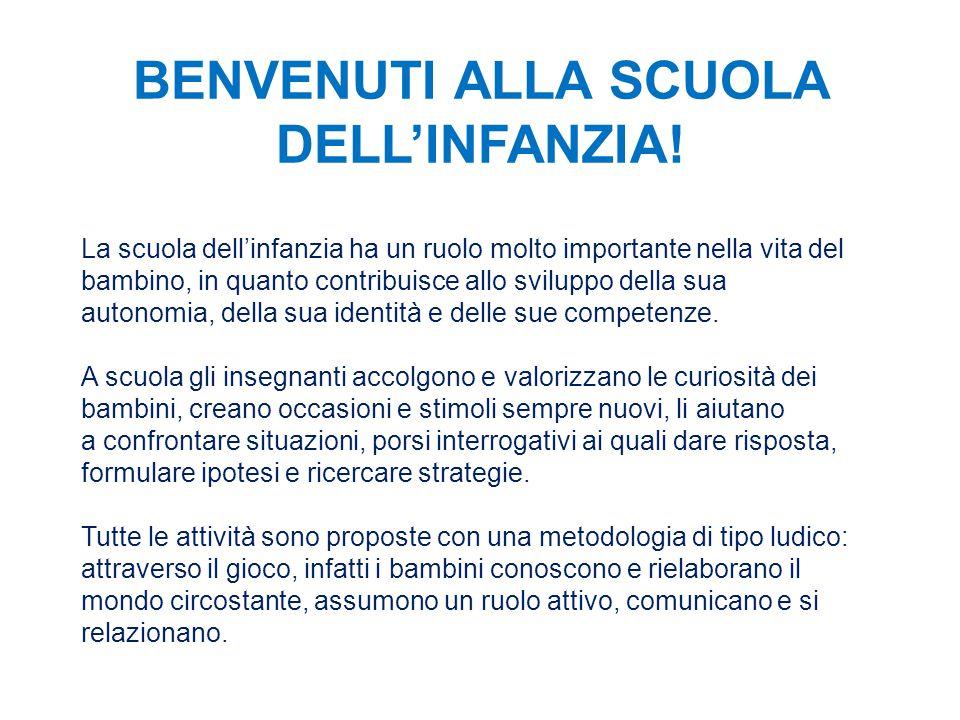 BENVENUTI ALLA SCUOLA DELL'INFANZIA!