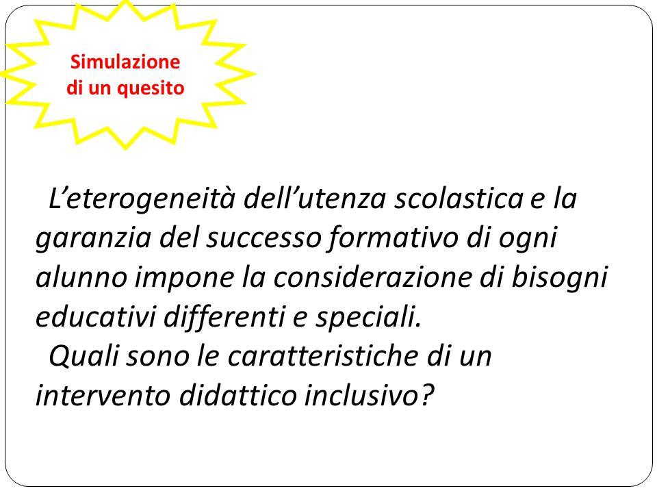 Quali sono le caratteristiche di un intervento didattico inclusivo