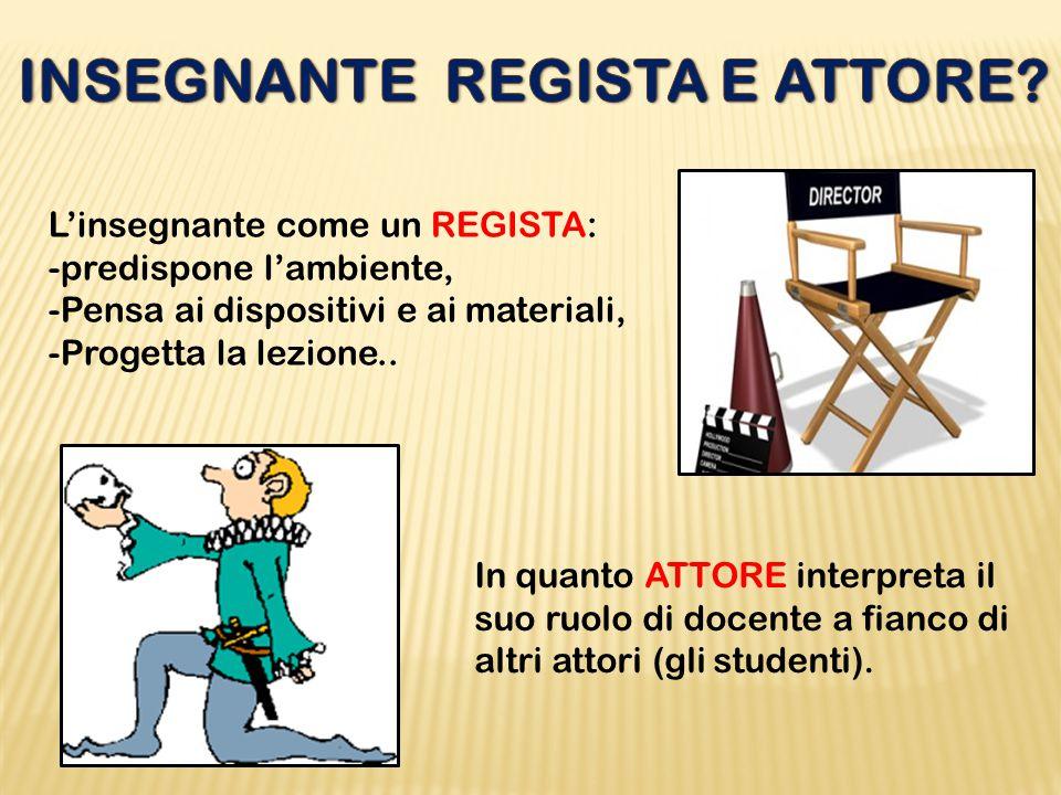 INSEGNANTE REGISTA E ATTORE
