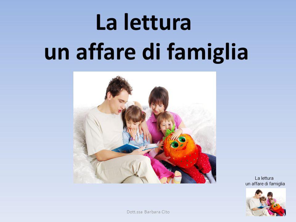 La lettura un affare di famiglia