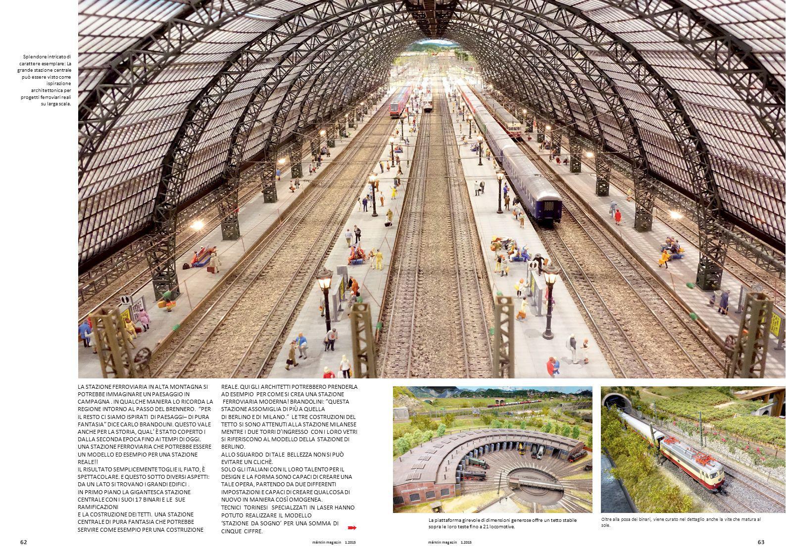 Splendore intricato di carattere esemplare: La grande stazione centrale può essere visto come ispirazione architettonica per progetti ferroviari reali su larga scala.
