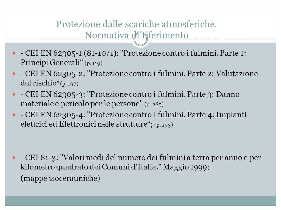 Protezione dalle scariche atmosferiche. Normativa di riferimento
