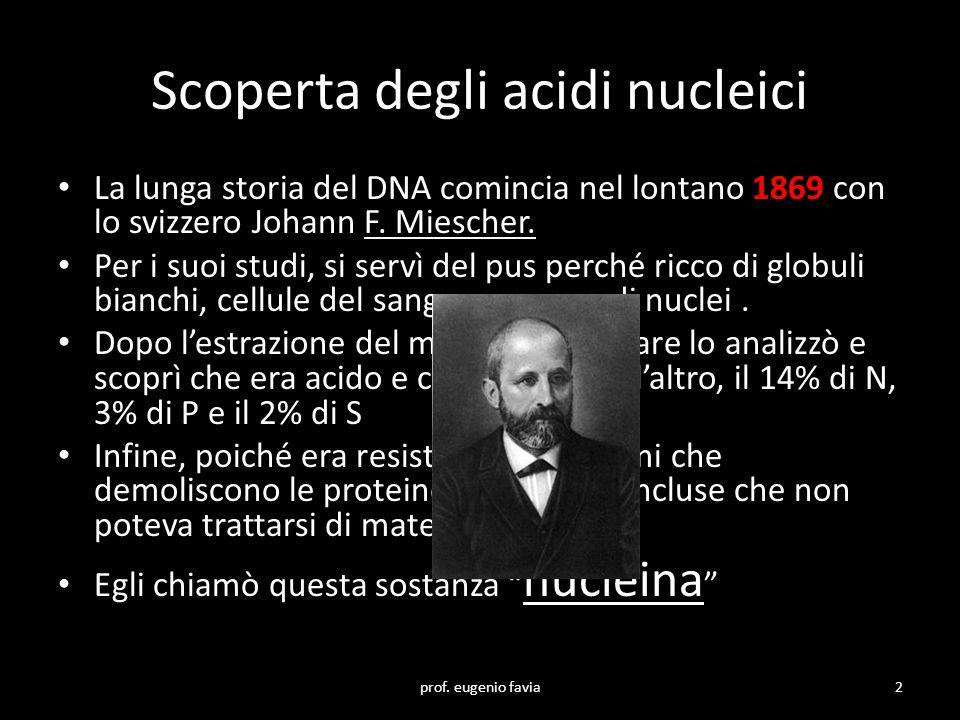 Scoperta degli acidi nucleici