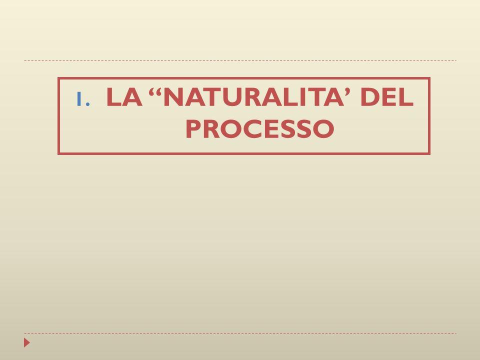 LA NATURALITA' DEL PROCESSO