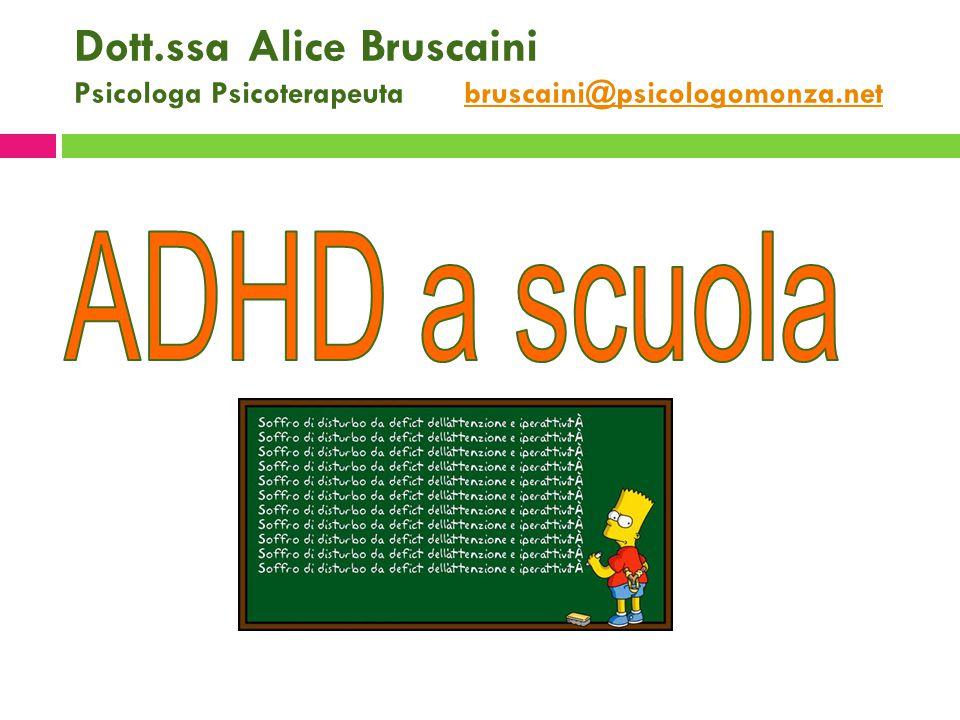 Dott.ssa Alice Bruscaini Psicologa Psicoterapeuta bruscaini@psicologomonza.net