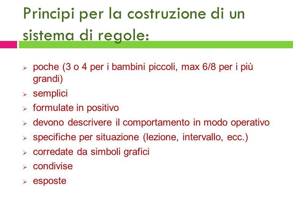 Principi per la costruzione di un sistema di regole: