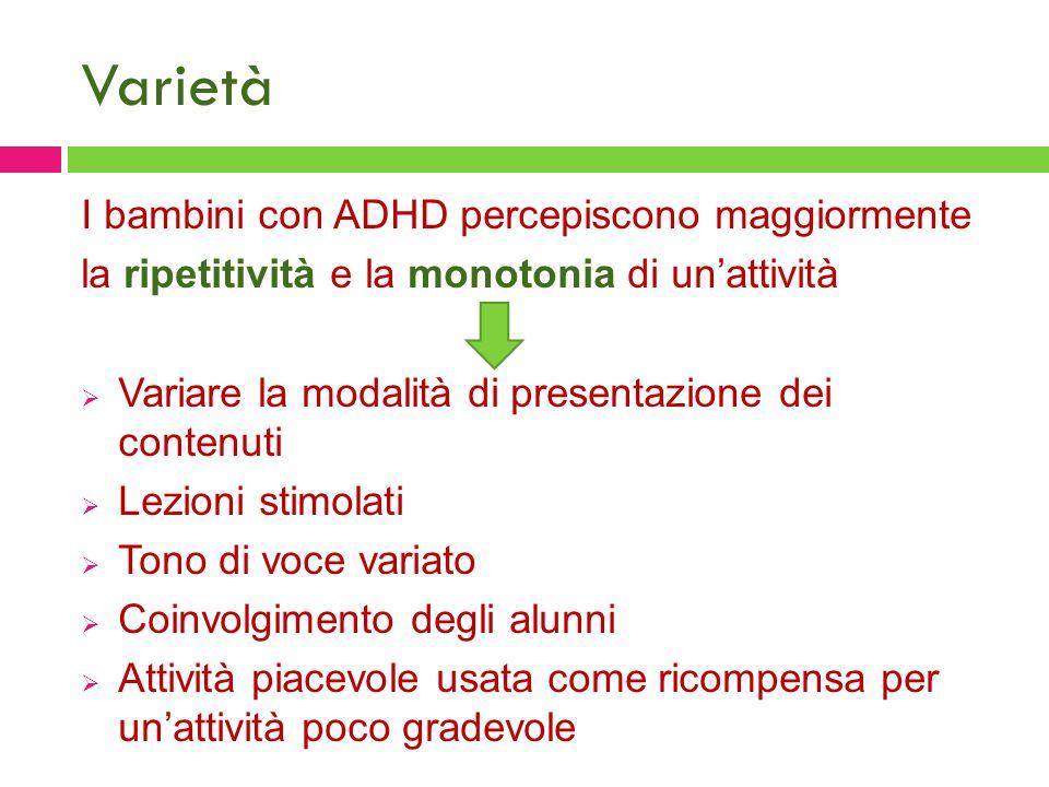Varietà I bambini con ADHD percepiscono maggiormente