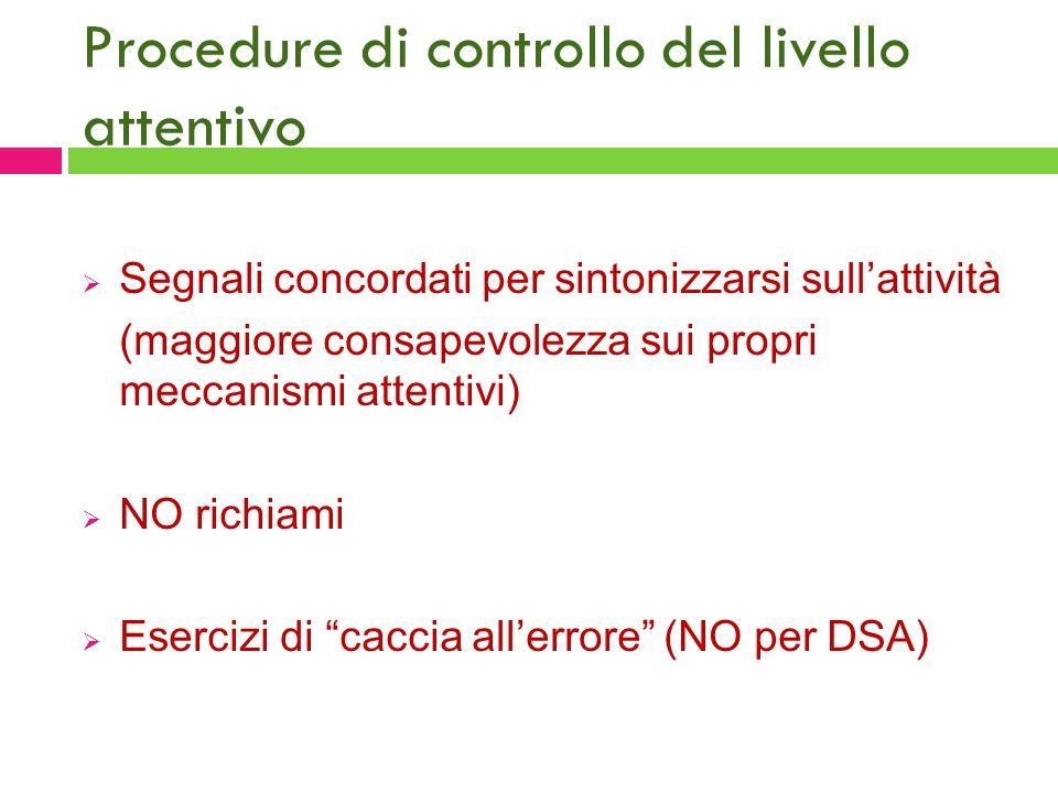 Procedure di controllo del livello attentivo