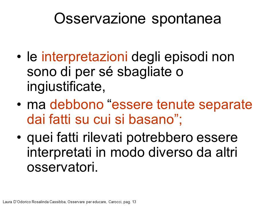Osservazione spontanea