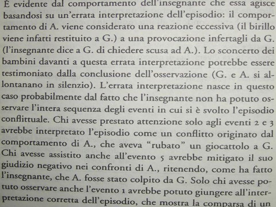 Laura D'Odorico Rosalinda Cassibba, Osservare per educare, Carocci, pag. 14