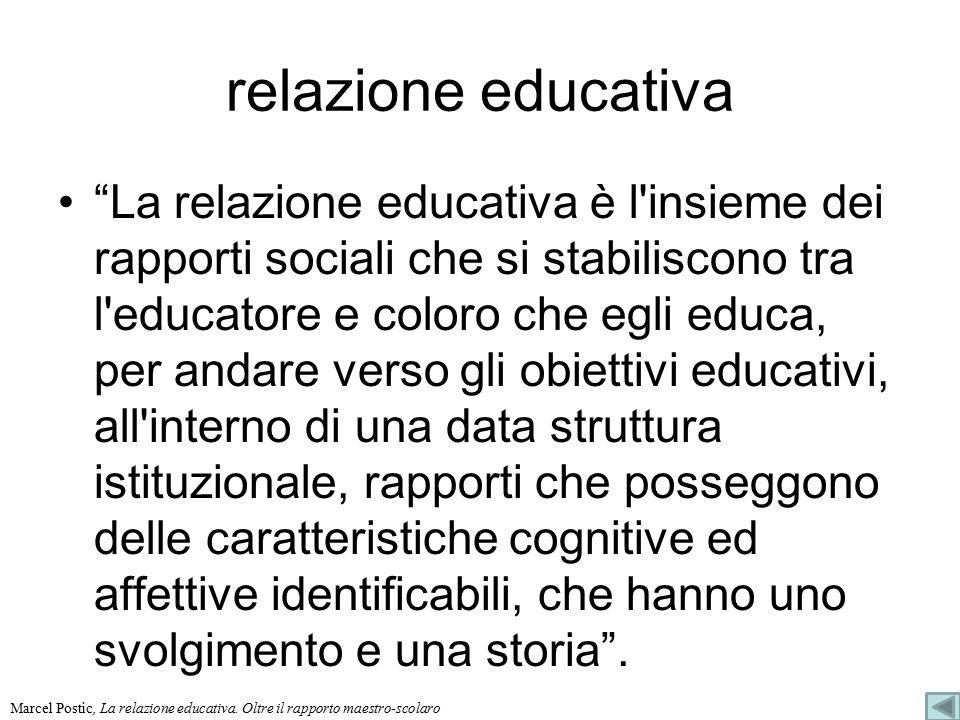 relazione educativa
