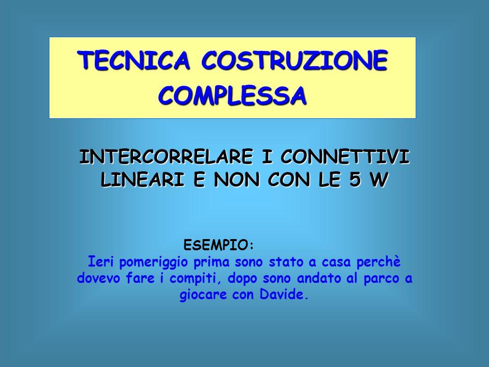 INTERCORRELARE I CONNETTIVI