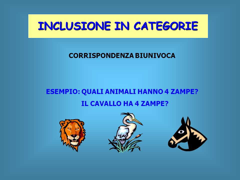 INCLUSIONE IN CATEGORIE