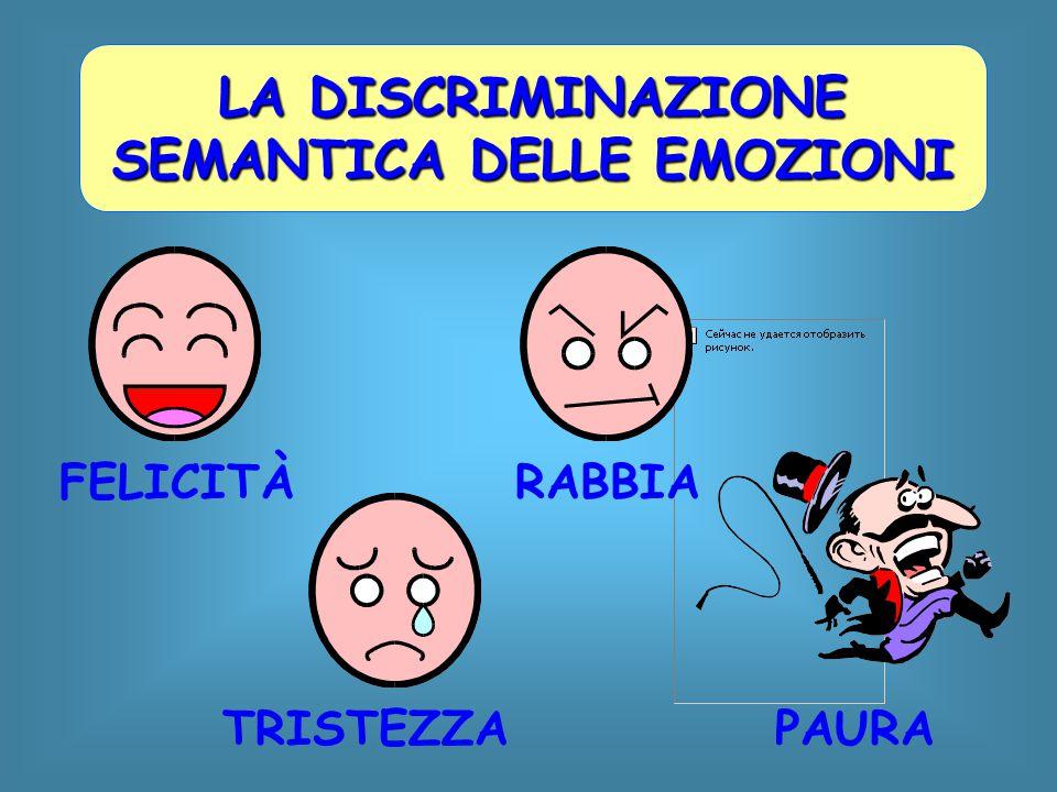LA DISCRIMINAZIONE SEMANTICA DELLE EMOZIONI