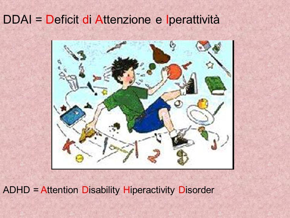 DDAI = Deficit di Attenzione e Iperattività