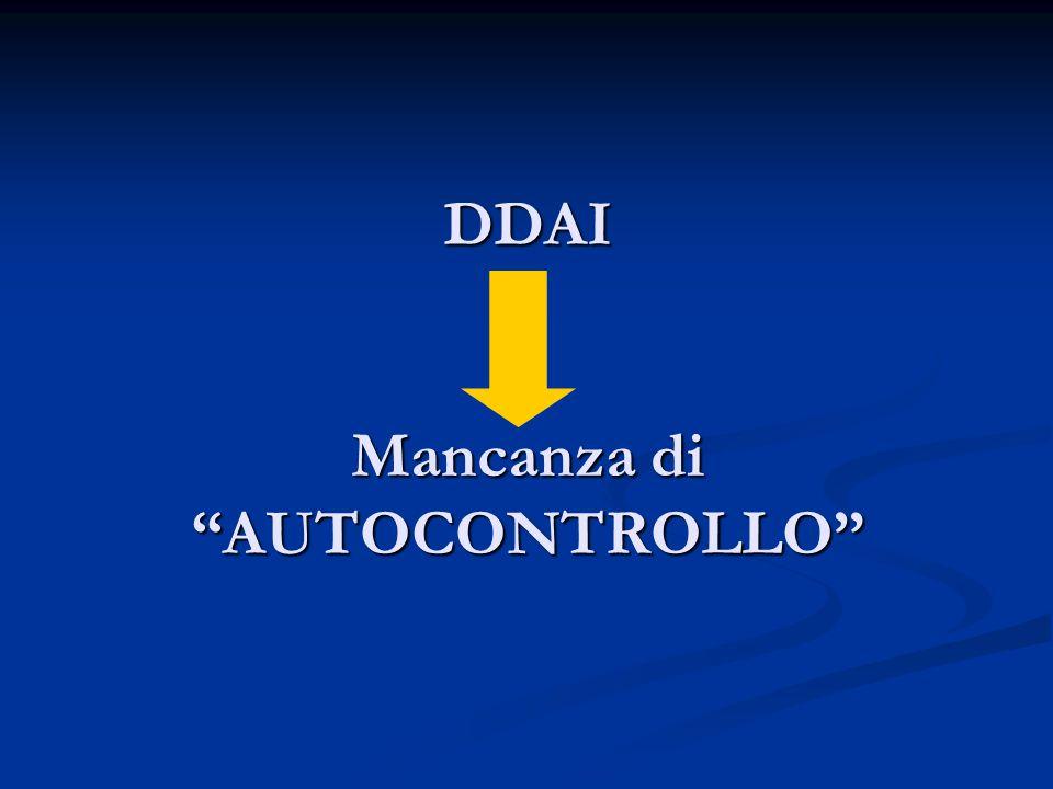 DDAI Mancanza di AUTOCONTROLLO