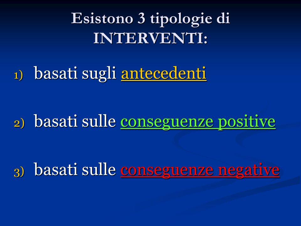 Esistono 3 tipologie di INTERVENTI: