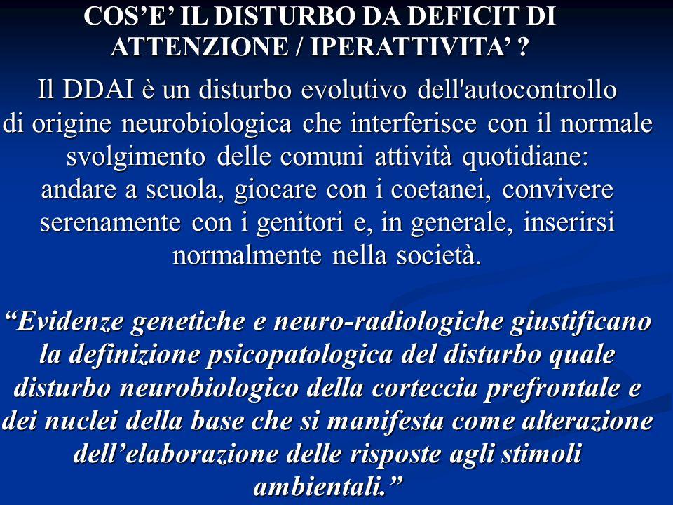 COS'E' IL DISTURBO DA DEFICIT DI ATTENZIONE / IPERATTIVITA'