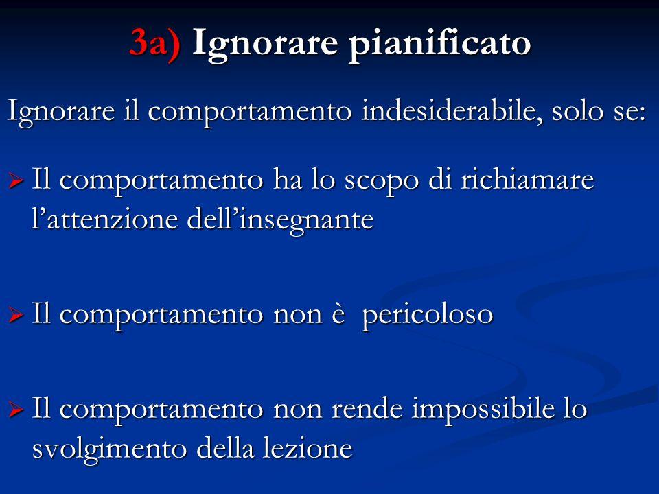 3a) Ignorare pianificato