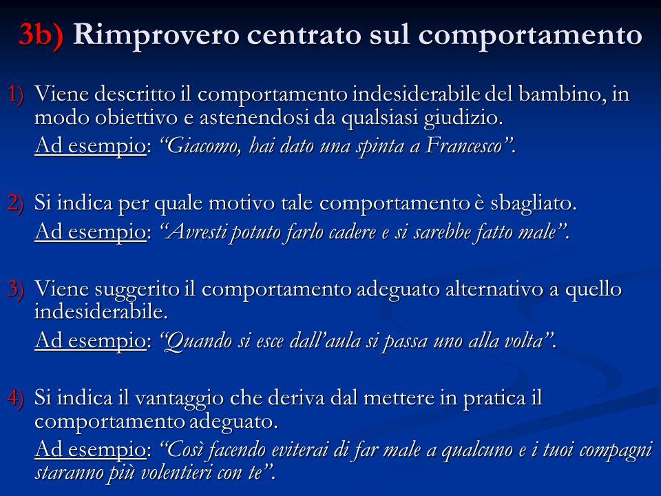 3b) Rimprovero centrato sul comportamento
