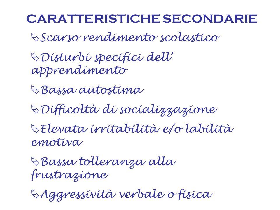CARATTERISTICHE SECONDARIE