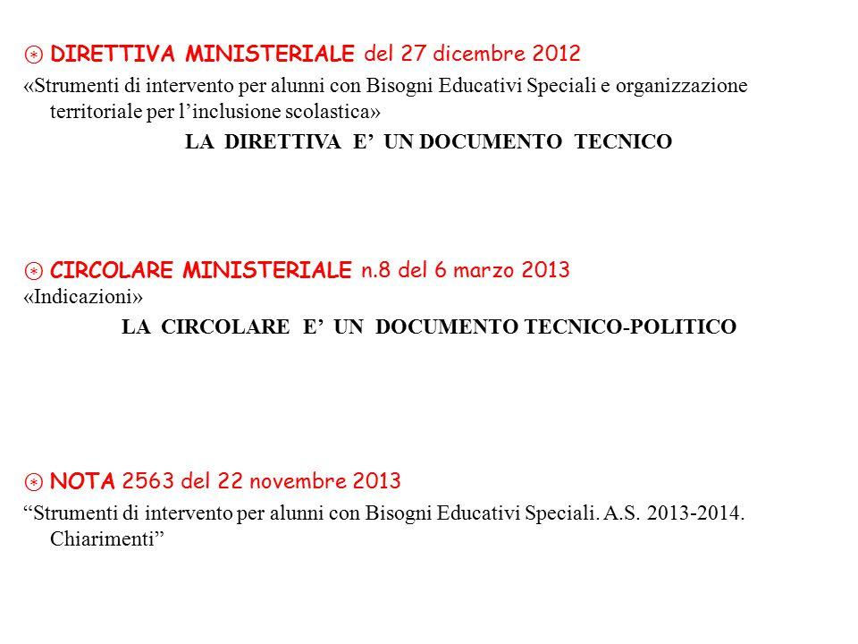 ⊛ DIRETTIVA MINISTERIALE del 27 dicembre 2012