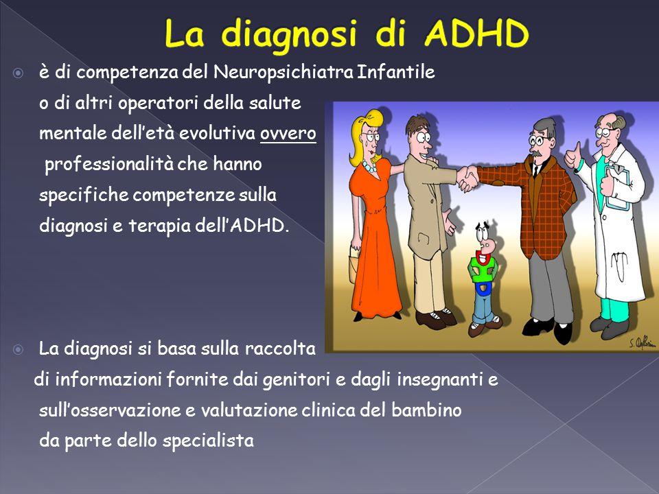 La diagnosi di ADHD è di competenza del Neuropsichiatra Infantile