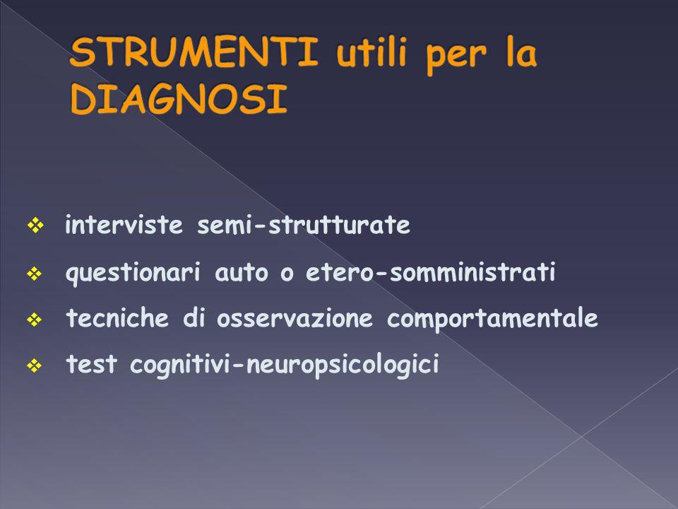 STRUMENTI utili per la DIAGNOSI
