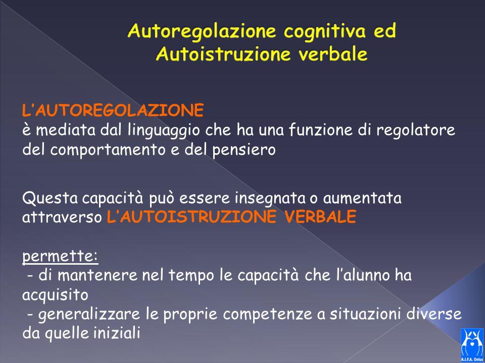 Autoregolazione cognitiva ed Autoistruzione verbale