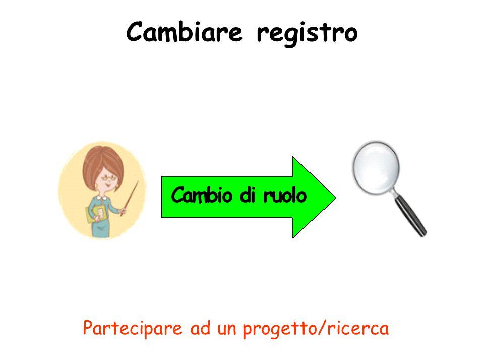 Cambiare registro Partecipare ad un progetto/ricerca