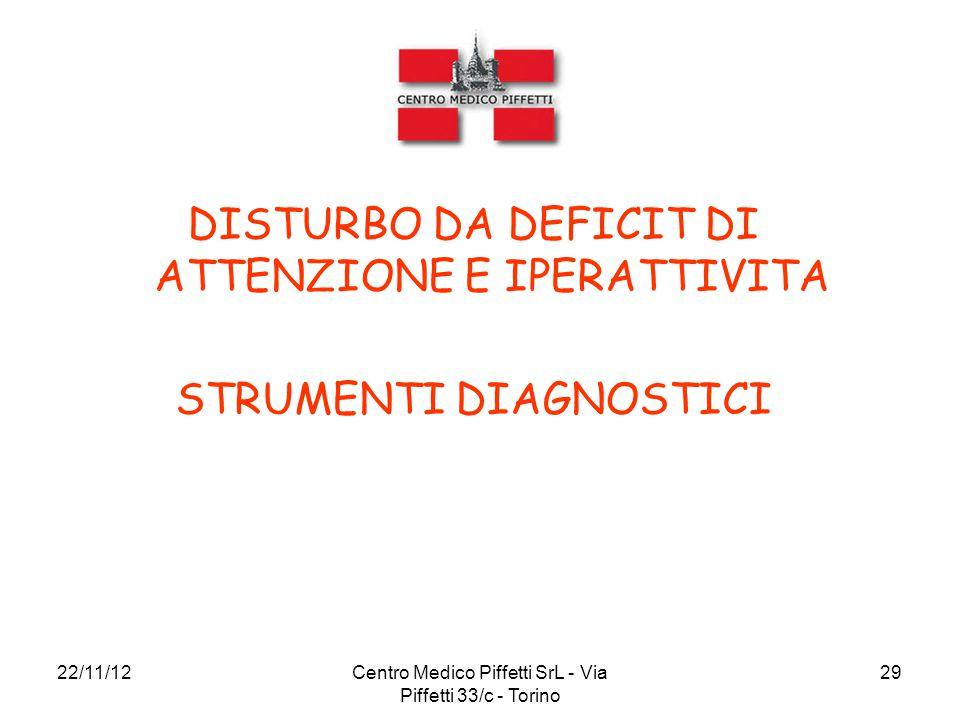 DISTURBO DA DEFICIT DI ATTENZIONE E IPERATTIVITA