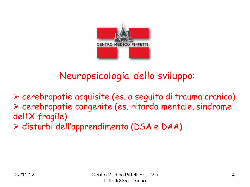 Neuropsicologia dello sviluppo: