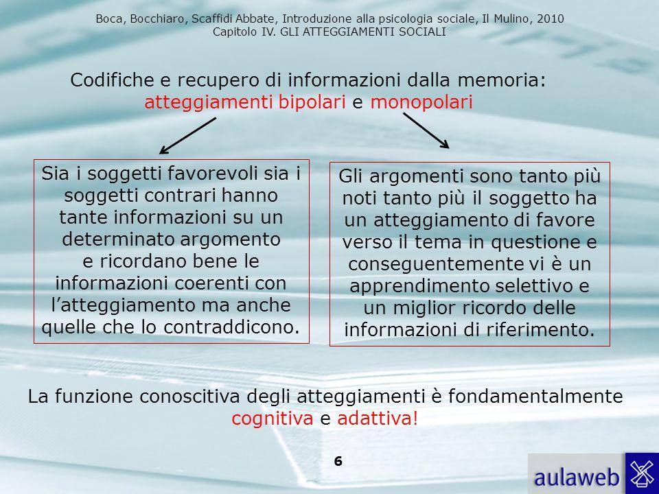 Codifiche e recupero di informazioni dalla memoria: