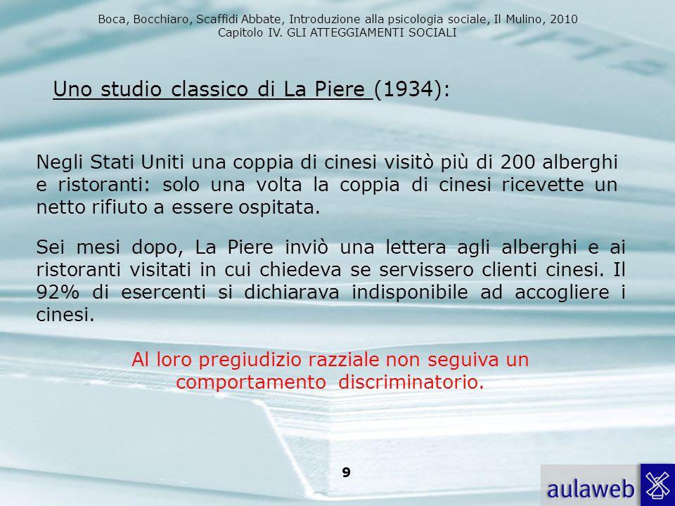 Uno studio classico di La Piere (1934):