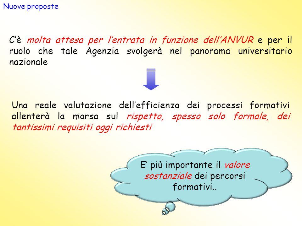 E' più importante il valore sostanziale dei percorsi formativi..