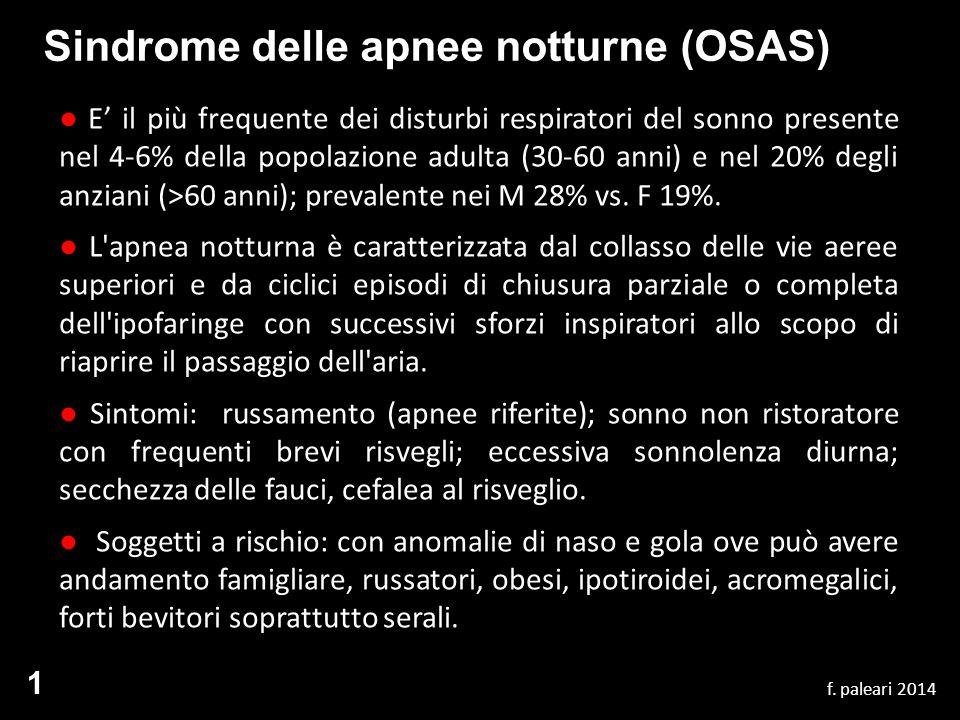 Sindrome delle apnee notturne (OSAS)