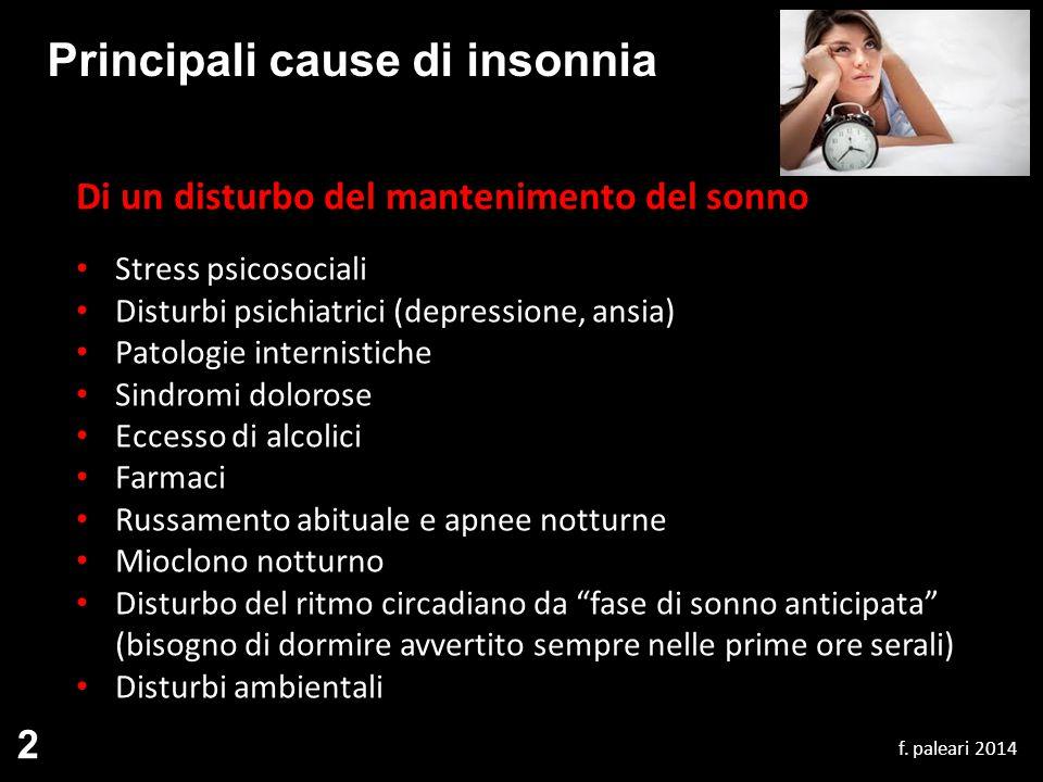 Principali cause di insonnia