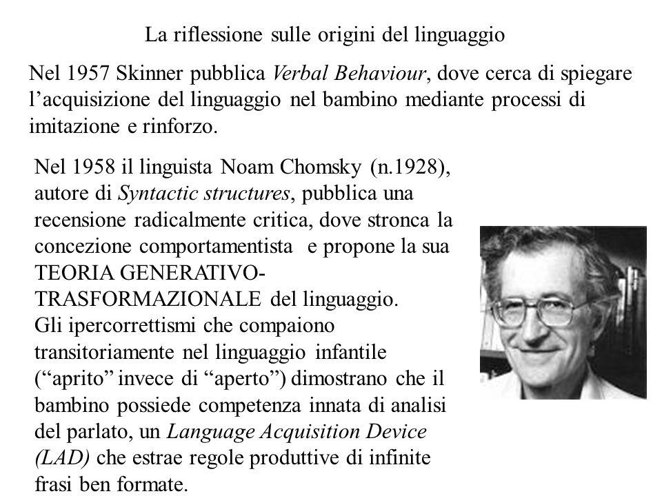 La riflessione sulle origini del linguaggio