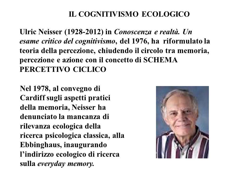 IL COGNITIVISMO ECOLOGICO