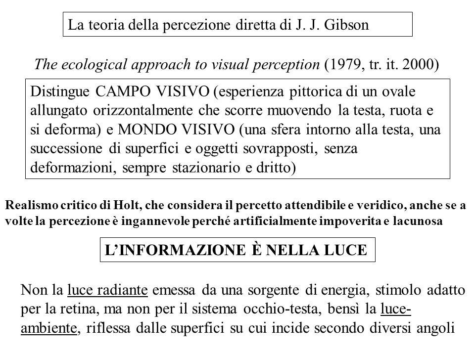 La teoria della percezione diretta di J. J. Gibson