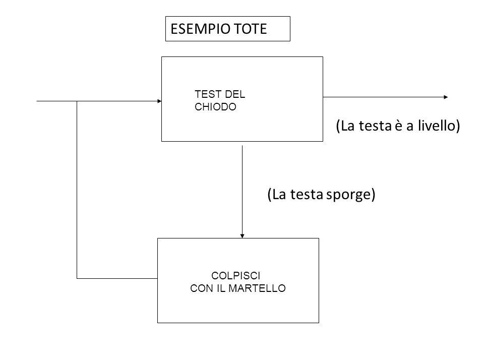 ESEMPIO TOTE (La testa è a livello) (La testa sporge) TEST DEL CHIODO