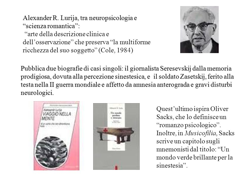 Alexander R. Lurija, tra neuropsicologia e scienza romantica :